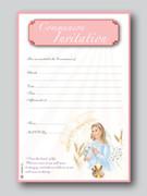 Invitation Set: Communion Pink/Girl (20)(INC6673)