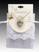 Chalice & Heart Pendant and Chain in Silver (JE9326S)