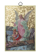 Gold Foil Wood Plaque: Guardian Angel (PL1710)