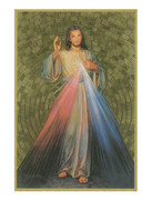 Gold Foil Wood Plaque: Divine Mercy (PL1758)