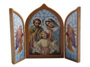 Tri-fold Plaque: Holy Family (PL112404)