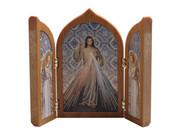 Small Tri-fold Plaque: Divine Mercy (PL11258)
