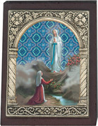 Desk Plaque: Our Lady of Lourdes (PL27308)