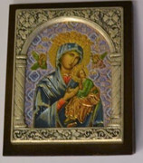 Desk Plaque: Our Lady Perpetual Succour (PL27333)