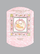 Packet Cards (6): Baby Girl: Congratulations/Bib (CDB5867)