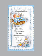 Packet Cards (12) - Baby Boy - Congratulations