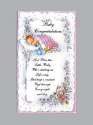 Packet Cards (12) - Baby Girl - Congratulations