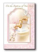 Baptism Keepsake/Card: Girl (CDB7861)