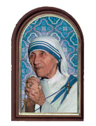 Plastic Standing Plaque: St Mother Teresa (PL122941)