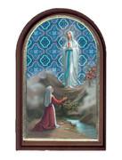 Plastic Standing Plaque: Our Lady Lourdes (PL122908)