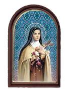 Plastic Standing Plaque: St Theresa (PL122918)