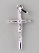Sterling Silver Pendant: 25mm Delicate Crucifix (CR105)