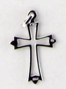 Sterling Silver Pendant: 25mm Hollow Cross (CR057)