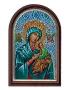 Plastic Standing Plaque: Our Lady Perpetual Succour (PL122933)