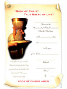 Communion Certificate, Chalice/Paten/Hands