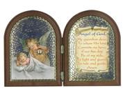 Plastic Bi-fold Plaque Angel & Baby (PL1110GA)