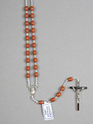 Rosary: Plastic Silver Links Brown (RO516N)