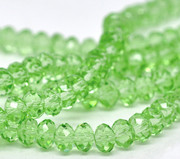Imm. Swarovski Crystal Beads 6mm Rondelle Green  x 100