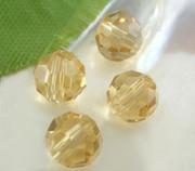 Imm. Swarovski Crystal Beads 6mm Round Gold x 100