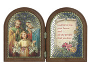 Bi-fold plastic plaque: Holy Family (PL111104)