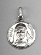Sterling Silver Round Medal: St Mary MacKillop (ME1047)