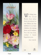 Easter Bookmark, Alleluia