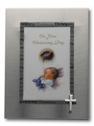 Christening Photo Frame:  Cross Symbol (PLB2682)