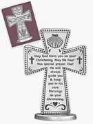 Standing Message Cross: Christening (SQP131)