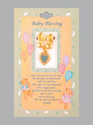 Baby Lapel Pin: Boy Booties & Miraculous Medal: Gold (LP51102G)