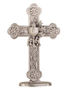 Metal Floral Cross: Communion (QP303)