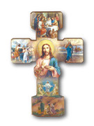 Wooden Cross: Multi-Image Life of Jesus (CR1231)