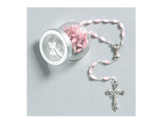Communion Rosary: Pearl Pink