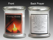 Glass Candle Holder LED battery: In Loving Memory