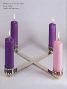 Large Advent Wreath in Brass (AW2678)