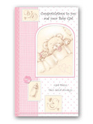 Packet Cards (12): Baby Girl: Congrats (CDB6888)