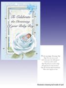 Packet Cards (6): Christening: Boy Rose (CDB7137)