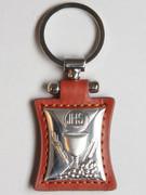 Key Ring: Sterling Silver/Leather: Chalice Brown