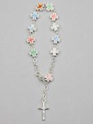 Rosary Bracelet: Coloured Crosses (BRL20)