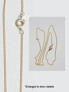 Plain Chain: Gold Plated Fine (JE140G)