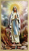 TJP Holy Card: Our Lady Lourdes: Rosary