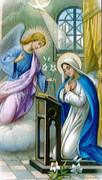 TJP Holy Card: Annunciation: The Angelus