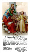 TJP Holy Card: Husband Daily Prayer