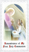 TJP Holy Card: First Communion Girl #3