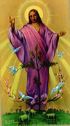 TJP Holy Card: Risen Christ: Serenity Prayer