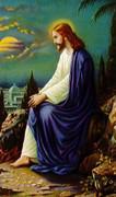 TJP Holy Card: Jesus Praying: Growing Old Gracefully #2