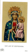 TJP Holy Card: Our Lady of Czestochowa #2