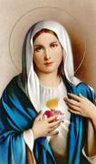 TJP Holy Card: Sacred Heart Mary: Serviceman #2