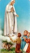 TJP Holy Card: Our Lady Fatima: Polish