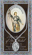 Pewter Medal: St Joan of Arc (LF9460)