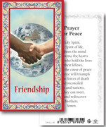 Laminated Holy Cards: 700 SERIES:Friendship Prayer for Peace